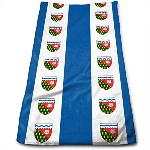 GONIESA Funny Northwest Territories Canada Flag Yoga and Out Door Microfiber Ribbed Cotton Hand Towels Washcloth Towels 17.5