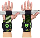 XTRIM Spotted Silicon Coated Extra Grip Weightlifting Strap (Lime, One Size)