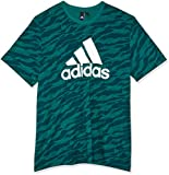 adidas Herren Kurzarm T-Shirt Essentials AOP, Noble Green, M, CZ9083