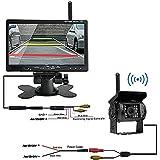 EC-gogo Caméra de recul CCD sans fil, étanche avec vision nocturne pour bus, camion, caravane, véhicule utilitaire lourd; avec écran LCD 17,8cm, 12–24V