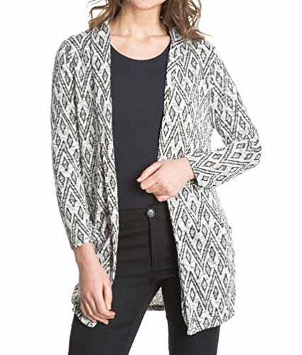 Laura Moretti - Longue veste sans boutons avec imprimé (géométrique ou animal) Blanc