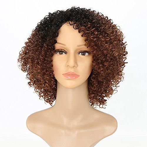 Afro Kinky Peluca corta rizada peluca negra