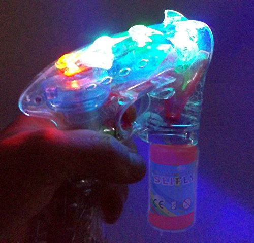 ☺ Brigamo 8188 – 5 x Seifenblasenpistole Party Set mit LED Licht OHNE nervigen Sound! Ideal für Party, Geburtstag oder Hochzeit ☺ - 3
