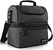 Hap Tim Lunch Box Insulated Lunch Bag Large Cooler Tote Bag for Adult,Men,Women, Double Deck Cooler for Office