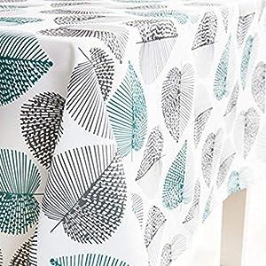 GWELL Tischdecke Eckig Abwaschbar Oxford Tischtuch Pflegeleicht Schmutzabweisend Farbe & Größe wählbar Muster-C 140 * 240cm