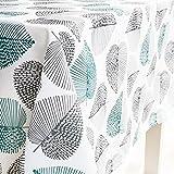 GWELL Tischdecke Eckig Abwaschbar Oxford Tischtuch Pflegeleicht Schmutzabweisend Farbe & Größe wählbar Muster-C 140 * 180cm