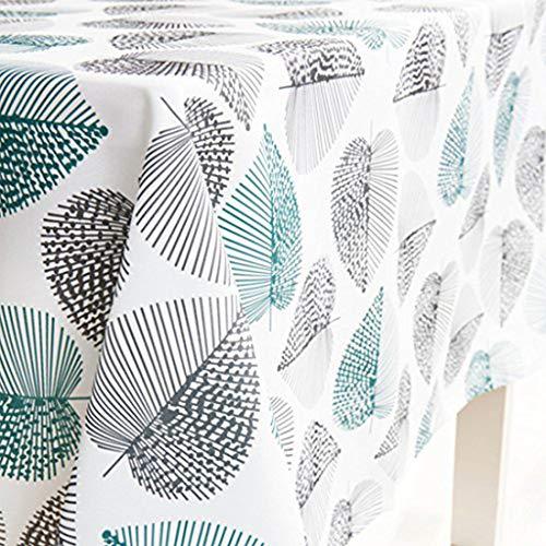 GWELL Tischdecke Eckig Abwaschbar Oxford Tischtuch Pflegeleicht Schmutzabweisend Farbe & Größe wählbar Muster-C 140 * 180cm - 40 X 40 Tischdecke
