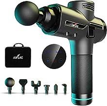 Pistolet de massage Musculaire, ANFLAG Masseur musculaire des tissus profonds avec 30 niveaux réglables, 9 têtes de massage et écran LCD, ultra silencieux pour la relaxation et la récupération