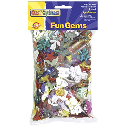 Fun Gems .5lb Bag-Assorted Shapes & Colors