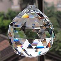 كرة معلقة من الكريستال الشفاف من بيتريشور فينغ شوي نافذة واقية من الشمس ديكور الحظ الجيد الازدهار - ديكور المنزل / الهدايا (40 مم)