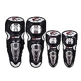 Ginocchiere moto di notte, quattro set di acciaio inossidabile possono essere utilizzati per leggings da bicicletta moto off-road.
