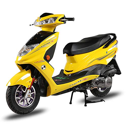 Wheel-hy Scooter de gaz légal de la Rue complètement Automatique du gaz 125cc,Jaune