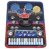 homcom Tappeto da Gioco Musicale Multiuso Pianoforte e Tamburi per Bambini PE 95 x 71 cm Multicolore