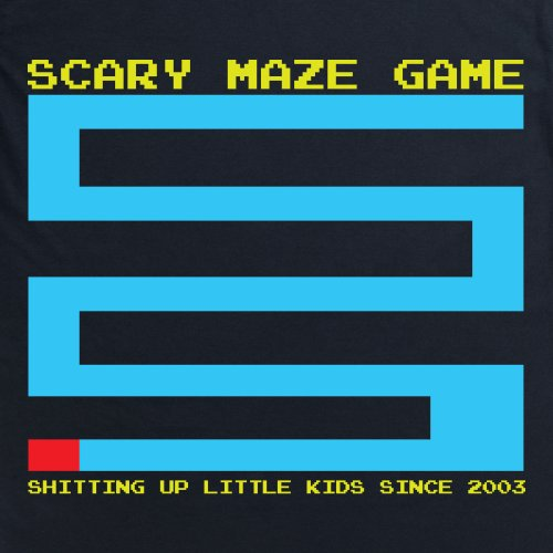 Meme Scary Maze Game T-Shirt, Herren Schwarz