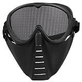 SODIAL(R) Maske Softair Schutzmaske Gotcha Paintball Schwarz Neu