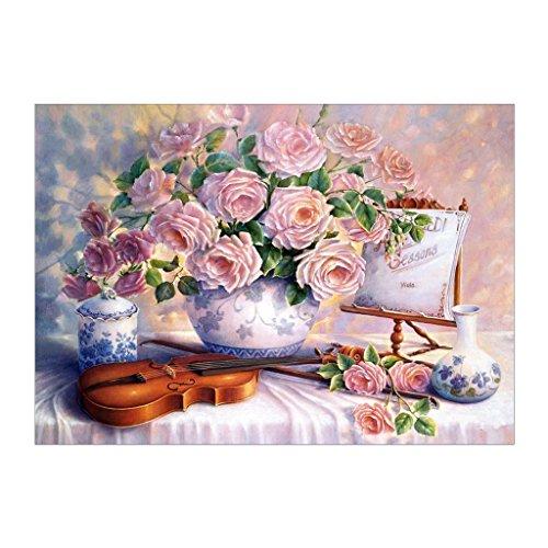 Wanfor Rose Blume 5D Diamant Stickerei Malerei DIY Kreuzstich Dekoration Kunst # 21 -