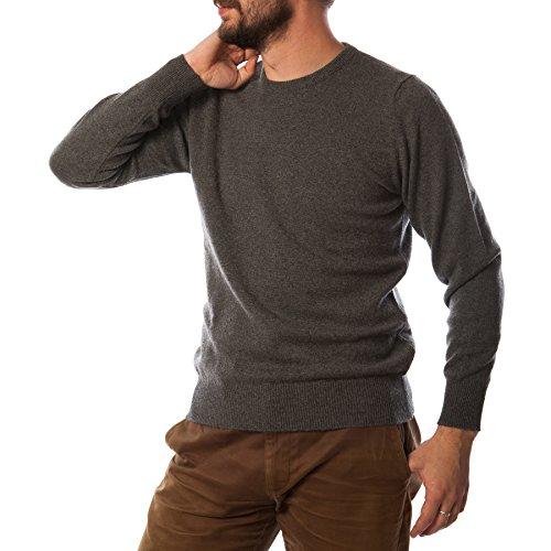 Hawick tricot Men's T-Shirt à col ras de cou Pull cachemire DERBY