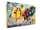 Wassily Kandinsky - Gelb - Rot - Blau - 90x60 cm - Premium Leinwandbild auf Keilrahmen - Wand-Bild - Kunst, Gemälde, Foto, Bild auf Leinwand - Alte Meister/Museum