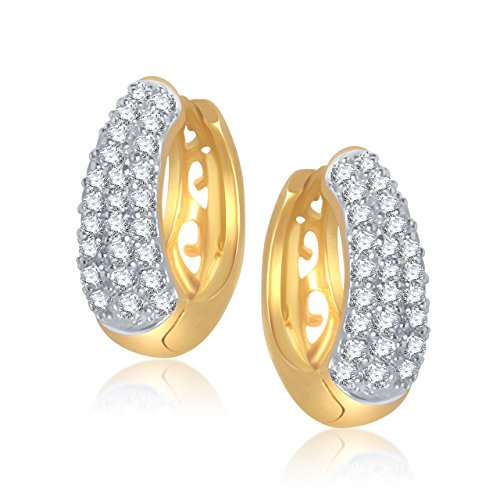 Meenaz Sterling-White Silver Hoop Earring For Women - B110
