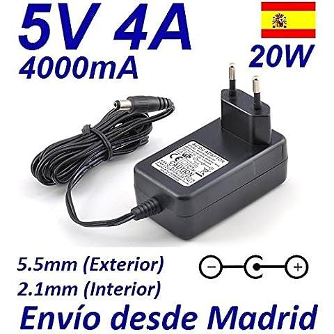Cargador Corriente 5V 4A 4000mA 5.5mm 2.1mm 20W