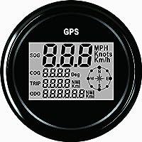 Garantierter digitaler GPS-Geschwindigkeitsmesser, Entfernungsmesser für Auto oder Boot, mit Hintergrundbeleuchtung, 85 Millimeter, 12V / 24V.