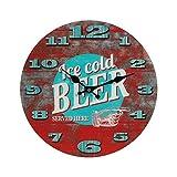 1x Wanduhr ''Ice Cold-Beer'' | Uhr Mann | Groß | Design | Geschenk für Männer | für Wohnzimmer | Dekoration | Schmücken | Küchenuhr | Preis am Stiel®