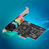 Pennyjie 32-bit PCI-e Express x1 Bus Interface PCI-E 5.1 Channels CMI8738 Chipset Audio Digital Audio Sound Card