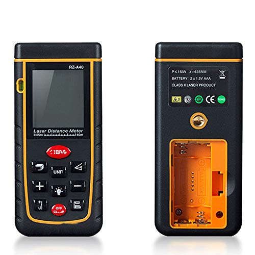 HJDQ Gamma infrarossi Finder - Handheld Camera a infrarossi Gamma di Misura per la misurazione della Distanza 40m Dispositivo con Schermo LCD per la misurazione Area Meter Rangefinder