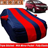 Autofact Car Body Cover for Toyota Innova Crysta (Mirror Pocket , Premium Fabric , Triple Stiched , Fully Elastic , Red / Blue Color)