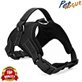 PETVOGUE Comfort Step in Dog Harness Easy to Put on Small Dog Harness Choke Free Adjustable Pet Vest No Pull Outdoor Sport Vest Harness Reflective Soft Padded Vest for -Medium(Colour May Vary)