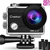 Crosstour Action Cam 4K Camera WIFI Unterwasser Kamera Ultra HD 2 'LCD Wasserdichte 30M 170...