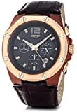 Esprit Herren-Armbanduhr XL Clear Octo Brown Rosegold Chronograph Quarz Leder ES102881004