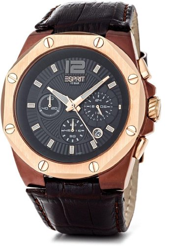 Esprit Clear Octo Unisex Analogue Watch with Black Dial Analogue Display - ES102881004