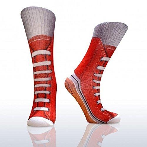 GeschenkIdeen.Haus - Sneaker Socken - Turnschuhe im fotorealistischen Design