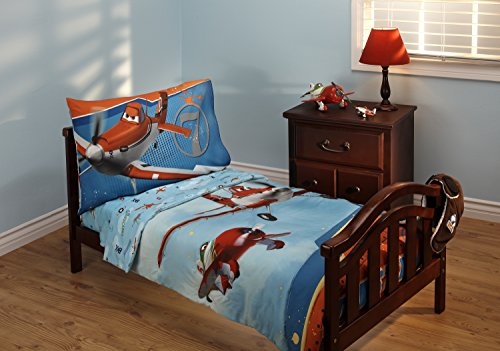 Disney Planes Let's Soar 4 Piece Toddler Bedding Set by Disney (Loft Kleinkind Bett)