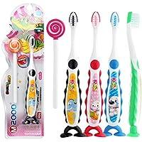 Neuda Kinderzahnbürsten, Zahnbürste Kids, 4 Verschiedene Tiermotive und farbe