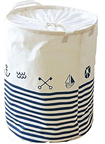 Dushow Grand panier à linge pliable Panier de rangement pour Dirty Clothes-3Couleurs, blanc, Taille unique