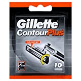 10 x Gillette Contour Plus Replacement Cartridges 10 Pack