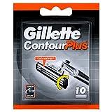 10 x Gillette Contour Plus Replacement Cartridges 10 Pack