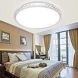 SZYSD LED kristall deckenleuchte Rund Deckenbeleuchtung Geschäft Modern Dekor Lampe (24W Kaltweiss ohne Fernbedienung)