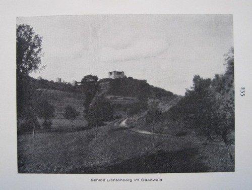 Schloss Lichtenberg im Odenwald / Heidelberg - historischer Fotodruck - 1926