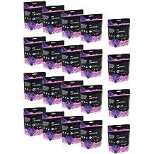 Cartridges Kingdom LC-1100 Pack de 20 Cartuchos de Tinta compatibles para Brother DCP-145C DCP-163C DCP-165C DCP-167C DCP-185C DCP-195C DCP-197C DCP-365CN DCP-373CW DCP-375CW DCP-377CW DCP-383C DCP-385C DCP-387C DCP-395CN DCP-585CW DCP-6690CN DCP-6690CW DCP-J715W MFC-250C MFC-255CW MFC-257CW MFC-290C MFC-295CN MFC-297C MFC-490CW MFC-5490CN MFC-5890CN MFC-5895CW MFC-6490CW MFC-670CD MFC-670CDW MFC-6890CDW MFC-790CW MFC-795CW MFC-930CDN MFC-990CW MFC-J615W (8BK,4C,4M,4Y)