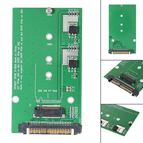 Wildlead U.2 / SFF-8639 NVME PCI-E SSD zu M.2 NGFF M Schlüssel SSD Konverter Adapter Kartenmodul (68-pin-laufwerk)