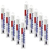 10 Stück Set Kühlschrank , Gefrierschrank , Eisschrank , Kühl Thermometer . Analog Mit Haken aus Deutscher Herstellung . Temperaturanzige + / - 40 °C