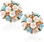 Shining Diva Fashion AAA High Quality Floral Gold Plated Stylish Fancy Party Wear Earrings For Women & G