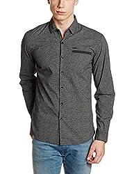 Wrangler Mens Casual Shirt (8907649199015_W2654910421R_M_Black)