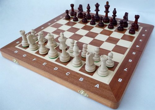 ChessEbook Turnier - Schachspiel Staunton Nr. 4A 42 x 42 cm Holz