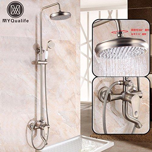 Luxurious shower Antik Bronze neu Badewanne Dusche Wasserhahn einzigen Griff in Bad Dusche im Freien Mischer mit Handdusche Whirlpool Auswurfkrümmer