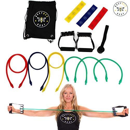 te Tragbar Widerstand Band Set-mit Mini Schlaufen, Türanker, Griffe, Kordelzug Rucksack-für Training, Zuhause Oder Büro Workouts ()