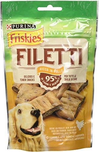 Friskies Purina Filetti Cane Snack Gusto Pollo – 7 Confezioni da 70 g Ciascuna